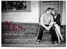 simply stripes Save the Date Postcards