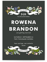 Banner and Branches Save the Date Postcards