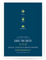 Planes Trains and Automobiles Save the Date Postcards