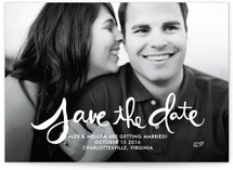Hand-Lettered Save the Date Postcards