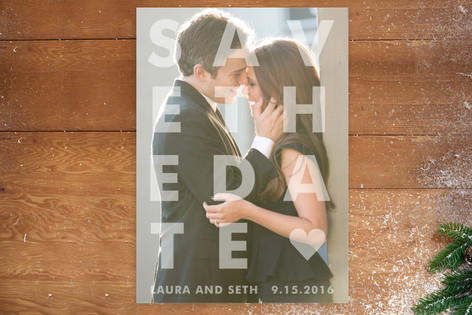 Etched Save the Date Postcards
