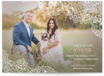 Lace Save the Date Postcards