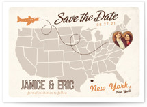 Up and Away Save the Date Postcards