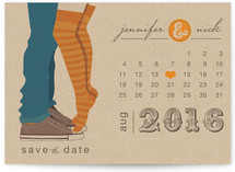 Tiptoe Kiss Save the Date Postcards