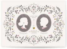 Date Silhouette Save the Date Postcards