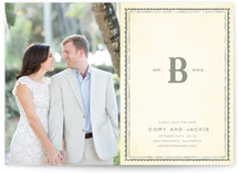 Mr + Mrs Monogram Save the Date Postcards