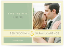 Subtle Chevron Save the Date Postcards
