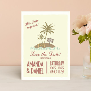 Flip Flops Required Save the Date Postcards