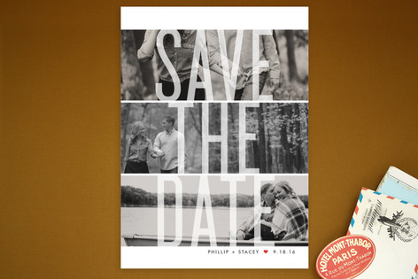 Trifecta Save the Date Postcards