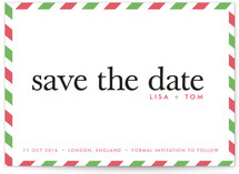 float + aerogram Save the Date Postcards