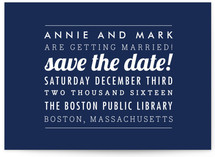The Square Type Save the Date Postcards