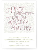 Once Upon Save the Date Postcards
