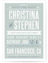 Woodtype Poster Save the Date Postcards