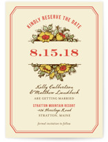 Harvest Floral Save the Date Postcards