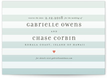 Ombre Stripes Save the Date Postcards