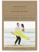 Vintage Kraft Save the Date Postcards