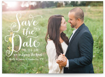 Charmed Calligraphy Save the Date Postcards