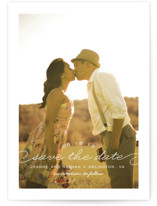 Simply Timeless Save the Date Postcards