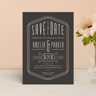 Luxe Deco Save The Date Postcards