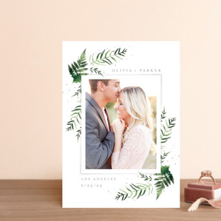 Fresh Fern Save The Date Postcards