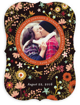 Retro Florals Save the Date Cards