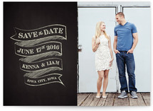 Charming Chalkboard Save the Date Cards