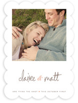 Sweet Script Save the Date Cards