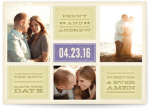 Forever and Ever Amen Save the Date Cards