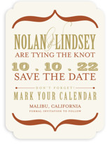 Bold Brackets Save the Date Cards
