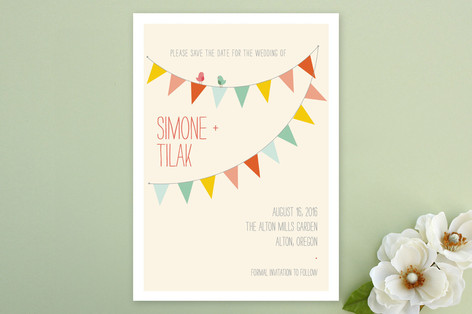 barn party save the date cards by zucchinipress minted