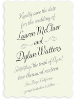 Just My Type Save the Date Cards
