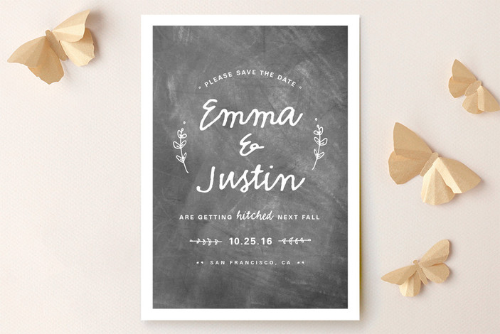 Whimsical Hitch Save the Date Cards