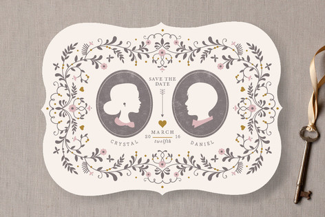 Date Silhouette Save the Date Cards