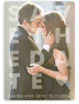 Etched Save the Date Cards