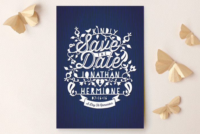 Intricate Paper Cut Save the Date Cards