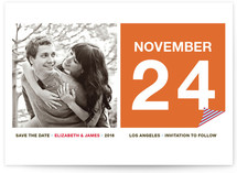 Calendar Page Save the Date Cards