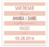 Malibu Stripes Save the Date Cards