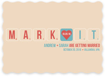 Word Play Save the Date Cards