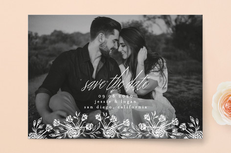 Floral Bed Save The Date Cards