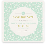 Vintage Floral Save the Date Cards