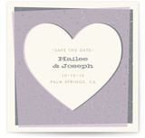 Overlapping Hearts Save the Date Cards