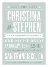 Woodtype Poster Save the Date Cards By Paper Dahlia