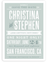 Woodtype Poster Save the Date Cards