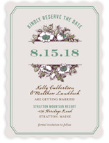 Harvest Floral Save the Date Cards