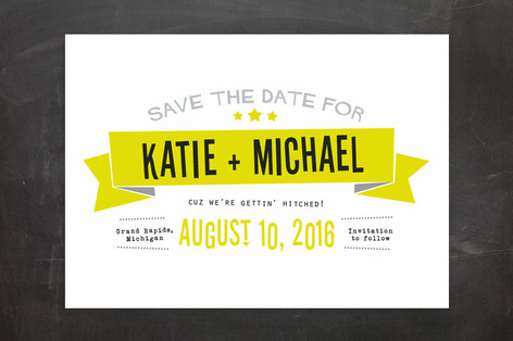 Afterparty Save the Date Cards