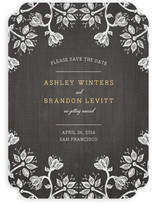 Hand-Drawn Flowers Save the Date Cards