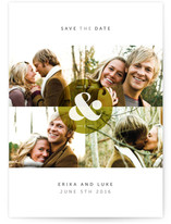 Ampersand Monogram Save the Date Cards