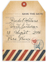 Vintage Pack Your Bags Save the Date Cards