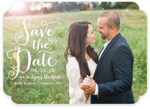 Charmed Calligraphy Save the Date Cards