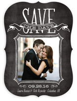 Chalked Save the Date Cards
